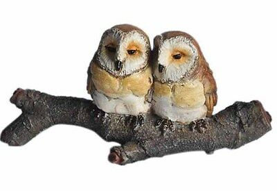 Fairy Garden Owl Lovers on Branch Figurine (4063) NEW in Box 5.75 Inches