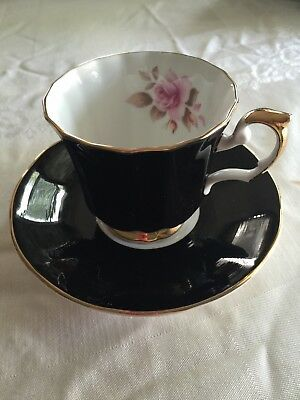 Staffordshire Elizabethan China Teacup And Saucer