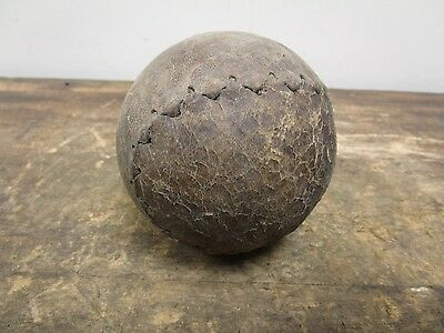 Antique Early 1900's Leather Figure Eight Baseball Softball Old