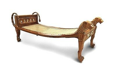 English Egyptian Revival Style (Early 20th Cent.) Walnut Daybed / Recamier