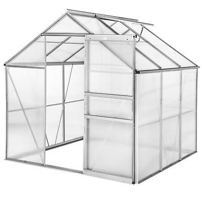 Greenhouse for garden or patio, metallic and lateral chassis, transparent roofs