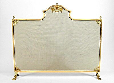 French Louis XVI Style (Modern) Brass Fire Screen