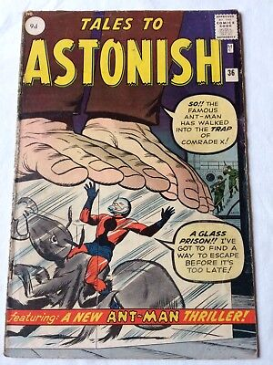 Tales To Astonish 36 GD 3rd appearance of ANT-MAN