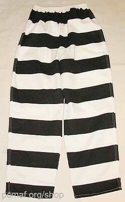 Black/White Prisoner/Convict/Inmate Striped Pants: Made in Montana USA by MCE