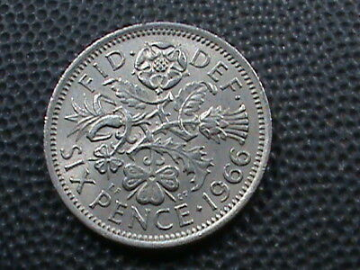 GREAT  BRITAIN    6  Pence   1966