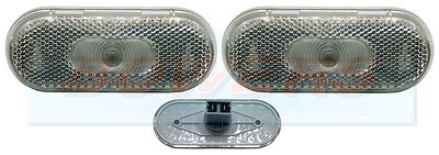 2 x JOKON WHITE CLEAR FRONT MARKER LAMPS LIGHTS ELDDIS CRUSADER XSCAPE CARAVAN