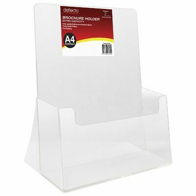 Bulk Buy - 3 x deflect-O Extra Capacity Brochure Holder Portrait