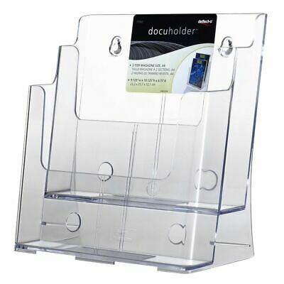 Bulk Buy - 3 x deflect-O 2 Tier A4 Brochure Holder Portrait