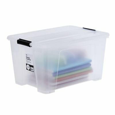 Bulk Buy - 10 x Keji 52L Plastic Storage Container Clear