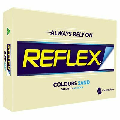 Bulk Buy - 5 x Reflex Colours 80gsm A4 Copy Paper Sand 500 Sheets