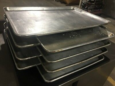 "Heavy Duty Commercial Grade 26""x 18"" Aluminum Baking Pan Lot Of 8"