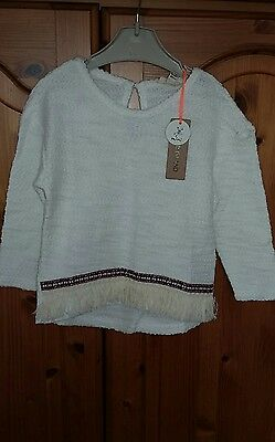 New River Island childs cream top size 12 to 18 months