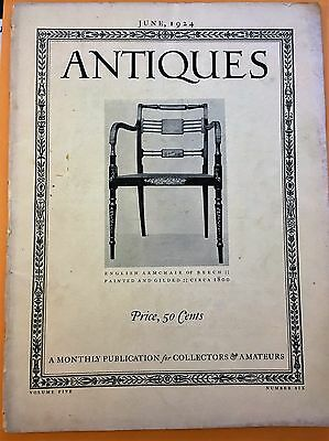 Antiques Monthly Publication June 1924 Volume 5 Number 6