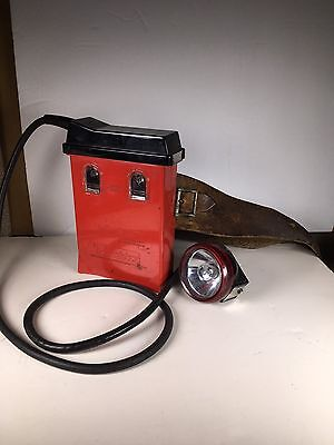 Wheat Miners Caplamp by Koehler w/ Leather Belt 1960-1970