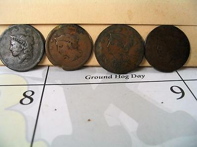 4 United States Large Cents Culls