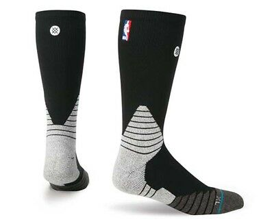 Stance Men's US Size 9-12 Basketball Solid Crew Sock - Black/Multi