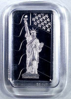 1 Gram Pamp Suisse .9995 Fine Platinum Statue Of Liberty Bullion Bar Assay