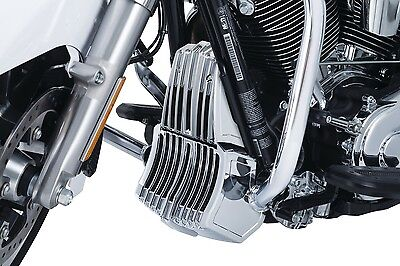 Kuryakyn 6417 Chrome Precision Oil Cooler Cover for 2017-2018 Harley Touring