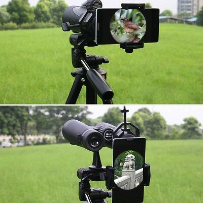 Universal Cell Phone Telescope Adapter Mount Binocular Travel STURDY Easy To Use
