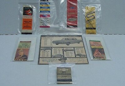 LOT of Ammon R Smith Chevrolet Match Packs & Advertisement York PA