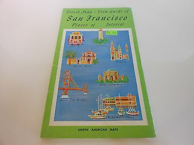 Rare - San Francisco Places of Interest Street Map & View Guide - possibly 1970
