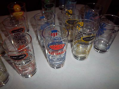 vintage nhra drink glasses