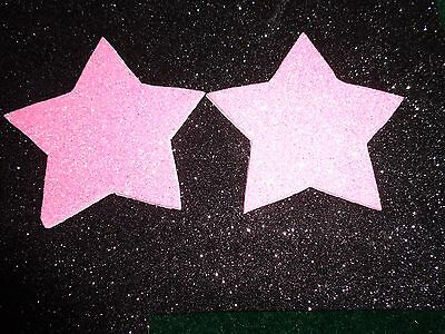 Nipple Covers/ Pasties Glitter Pink Stars