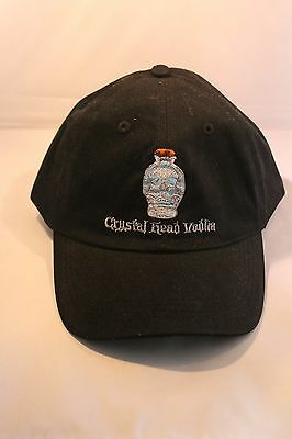 New Crystal Head Vodka Skull Dan Akroyd Adjustable Baseball Hat Cap Black
