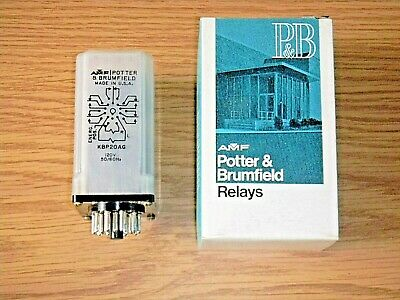 P&B Potter & Brumfield KBP20AG 120V Electromechanical Relay -5PDT 10A Dual Coil