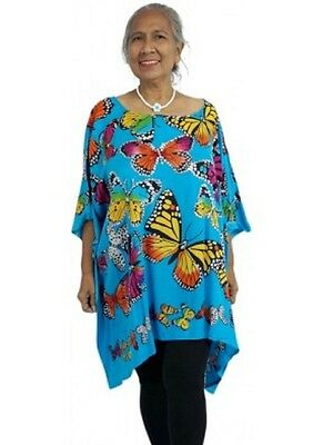 Nwt Osfa 10-26 - Gorgeous Bling Tunic - Butterfly Print - 3 Colours - New 2017