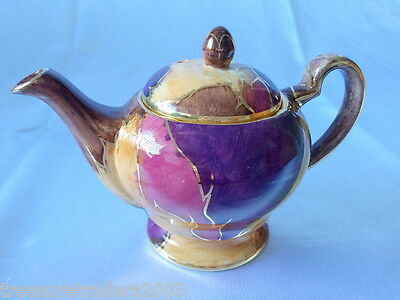 🌟 STUNNING OLDCOURT WARE ENGLAND HIGH LUSTRE SMALL TEAPOT more instore