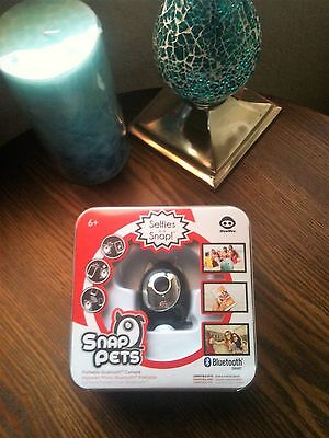 WowWee Snap Pets Portable Bluetooth Camera Black Cat Selfies in a Snap