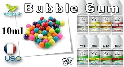 E Liquide LC - Bubble Gum - 10ml - 0/6/12/20mg de °Kudzu - Français