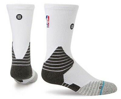 Stance Men's US Size 9-12 Basketball Solid Crew Sock - White/Multi