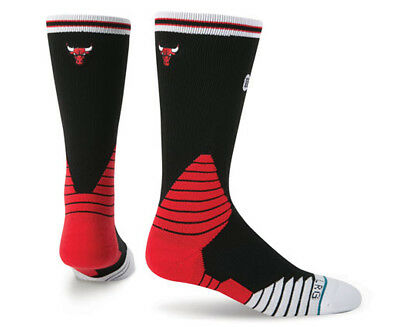 Stance Men's US Size 9-12 Chicago Bulls Basketball Crew Sock - Black/Multi