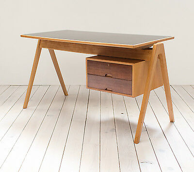Robin Day Hillestak Beech and Cherry Desk Vintage Mid Century Retro