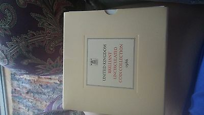 United Kingdom Brilliant Uncirculated Coin Collection 1986 8 coins