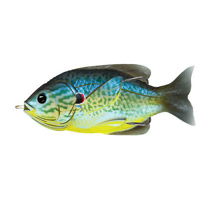 "Live Target Fishing  Lure-Sunfish-Hollow 3 1/2"" Topwater 4/0 Blue/Yellow"