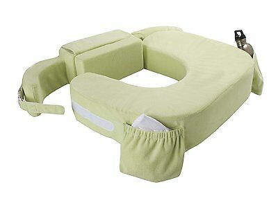 My Brest Friend Nursing Pillow Deluxe Slipcover Twin Plus Green - NEW FREE SHIP