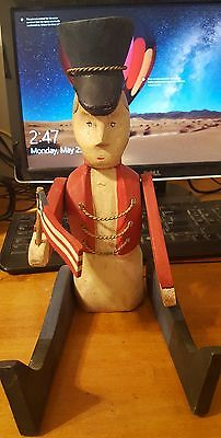 Wooden Patriotic Soldier with Flag