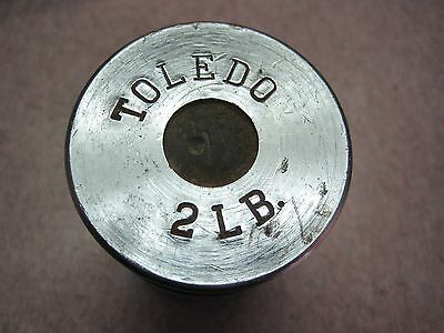 Vintage Toledo 2 Lb. Chrome antique Scale Weight     # 2 see others