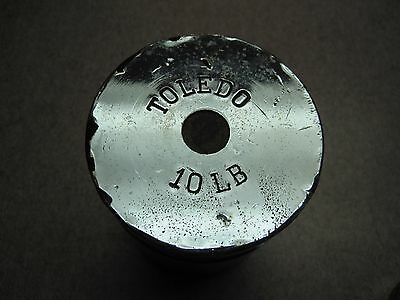 Vintage Toledo 10 Lb. Chrome antique Scale Weight      see others