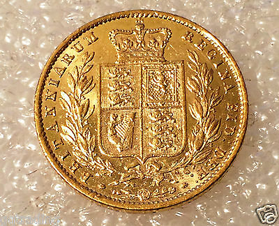 1857 Victoria Shield full  Sovereign   excellent coin ref 2722