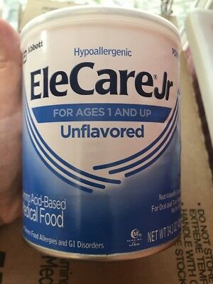 6 - 14.1oz cans (1 case) EleCare Jr Unflavored Junior Formula - Exp Feb/19