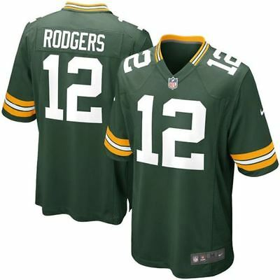 Green Bay Packers Jersey Aaron Rodgers #12 Nike Youth Game Replica NFL Green