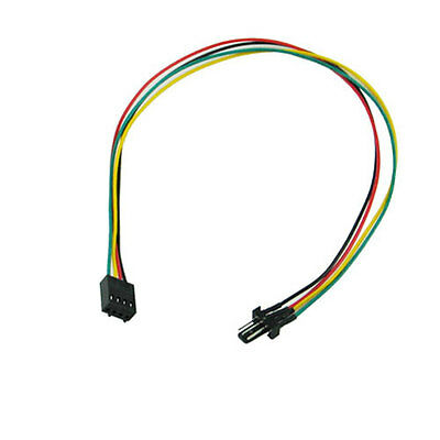 1 To 5 4-Pin PWM CPU Fan HUB Cooling Splitter Adapter Braided Power Cable 40c Lp