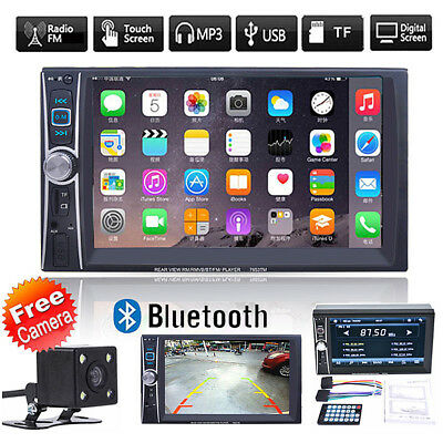 "6.6"" Double 2DIN Car MP5 MP3 Player Bluetooth Touch USB FM Stereo Radio+ Camera"