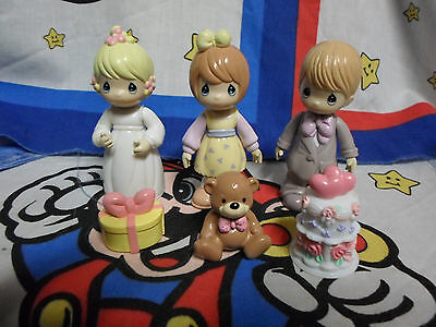 Lot of 3 Vintage Precious Moments Toy Figures with Accessories