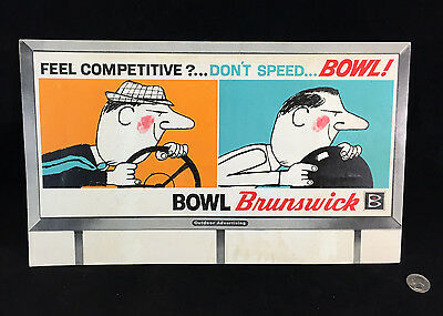 50's-60's Orig Billboard Advertising Mockup Brunswick Bowl Outdoor Advertising