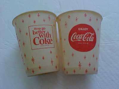 Vintage paper cups COCA COLA Lot of 2 - sample cup